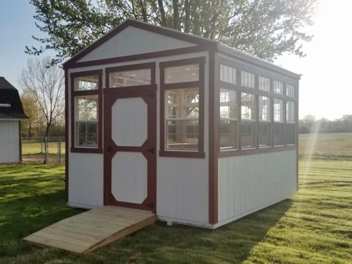 Amish Greenhouse delivered for a customer in Adrian, Michigan area